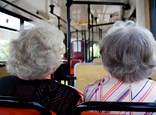 Old ladies on bus